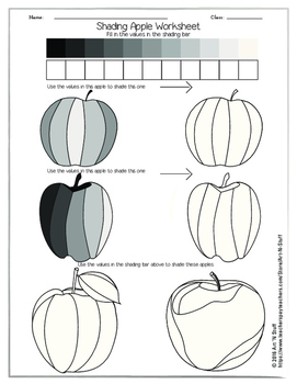 Shading Apple Worksheet By Art N Stuff