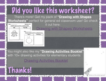 Shape Drawing Practice Worksheet By Otterpaint