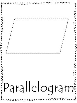 Shape Tracing Trace The Parallelogram Shape Preschool