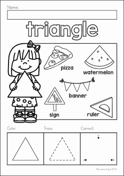 Shapes No Prep Worksheets By Lavinia Pop
