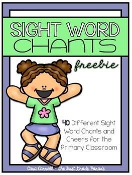 Sight Word Chants freebie