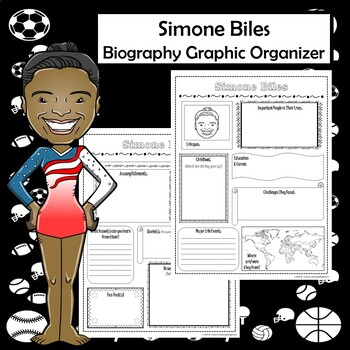 simone biles biography research graphic organizer