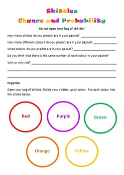 Skittles Chance And Probability Editable By Mrs Connick