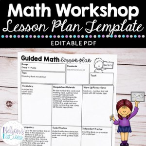Small Group Guided Math Lesson Plan Template   Freebie by Nelson s     Small Group Guided Math Lesson Plan Template   Freebie
