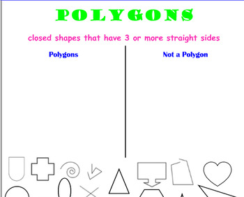 Smartboard Polygon Sort By Catherine Moreno