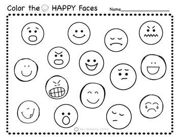 Social Emotional Worksheets Set 1 Identifying Feelings By