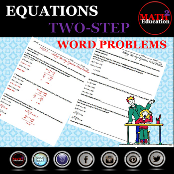 Solving Two Step Equations Word Problems By Math Square