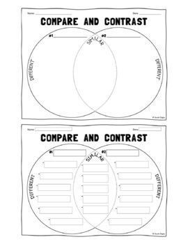 Spanish & English Venn Diagram Compare & Contrast