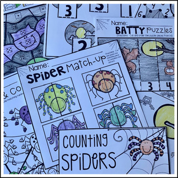 Spiders And Bats Math And Literacy Worksheets For