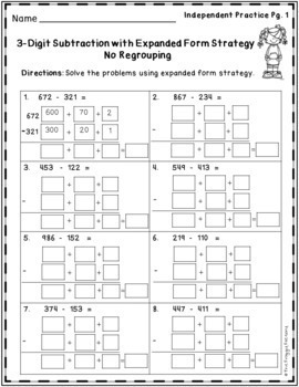 Subtraction Strategy Worksheets Bundle Volume 1 By The