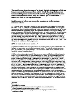 Sumerian Cultural Advancements Worksheet Cuneiform