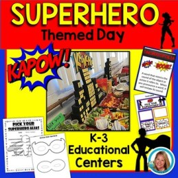 Superhero Themed Activities - Superhero Themed Day - Centers
