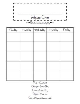 Behavior Chart Templates Worksheets Teaching Resources Tpt