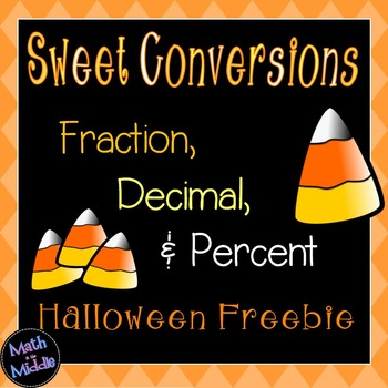 Converting Fractions Decimals And Percents Halloween