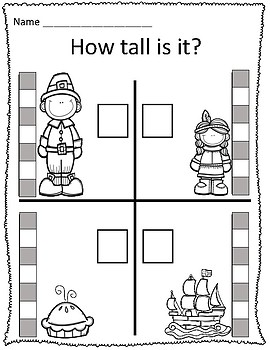 Tall Amp Short Thanksgiving Measurement Worksheets By