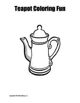 teapot coloring page # 70