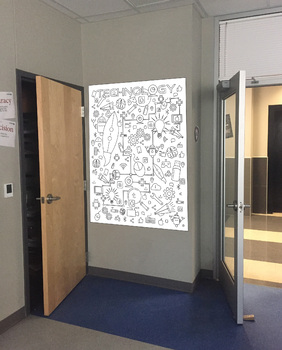 technology doodle wall poster 36 x 48