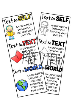 Reading Text Connection Worksheets Posters Amp Bookmarks By My Teaching Pal