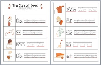 The Carrot Seed Letter Tracing Worksheets By Little