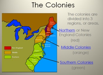 new england middle and southern colonies map » Full HD Pictures [4K ...