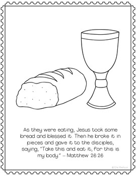The Last Supper Coloring Page Craft Or Poster Bible Verse