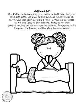 The Lord S Prayer Coloring Page By Teaching Diligently Tpt