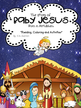 Christmas Story Of Baby Jesus Sticker Book Lessons And Art Activities