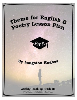 Theme for English B Poem by Langston Hughes Lesson Plans  Worksheets