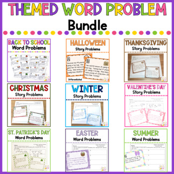 Themed Math Word Problems BUNDLE