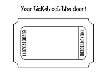 Ticket Out The Door Template By Proverbs Four Thirteen TpT