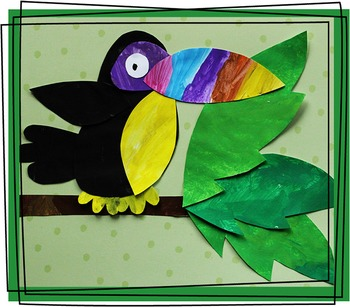 Toucan Craftivity Template By Keeping Life Creative TpT