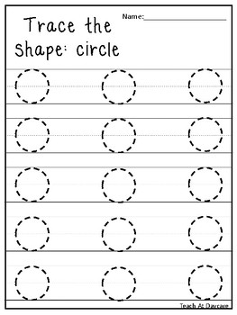 Trace The Shapes Tracing Worksheets Preschool Kdg Math