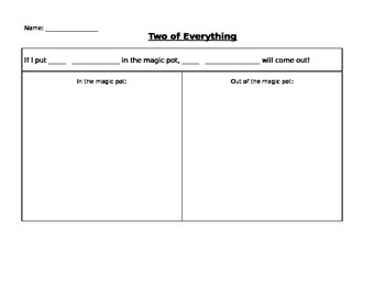 Two Of Everything Worksheet Template By Julie Feldman