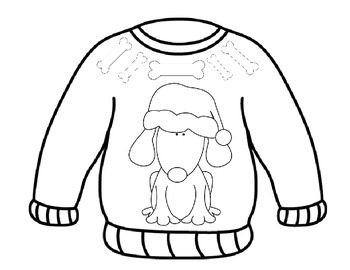Ugly Sweater Coloring Pages By MyAceStraw Teachers Pay