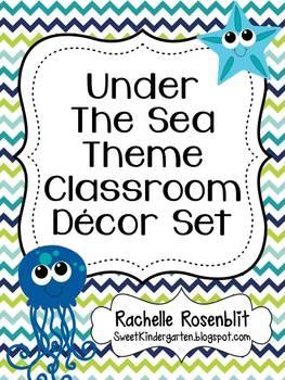 Under The Sea Ocean Theme Classroom Decor Set By Rachelle