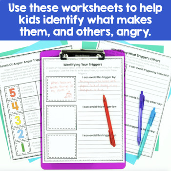 Anger Management Worksheets By Counselorchelsey