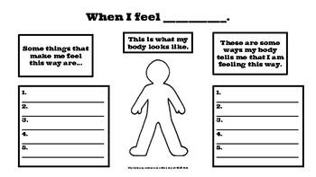 Understanding My Feelings Worksheet By Casie Sorensen