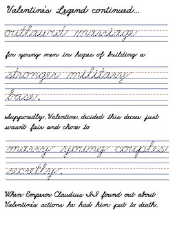 Valentines Day Handwriting Worksheets Manuscript Cursive Zaner Bloser