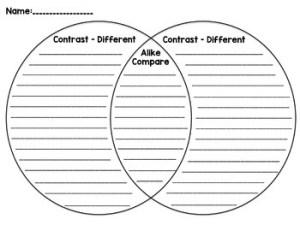 Venn Diagram  Compare and Contrast Graphic Organizer by