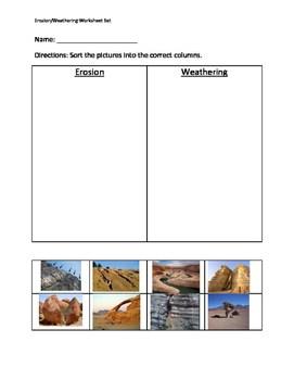 Weathering And Erosion Worksheet Set By Erin Zaleski