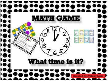What time is it? Math Board Game by Mrs Males Masterpieces ...