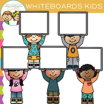 Whiteboard Kids Clip Art by Whimsy Clips | Teachers Pay ...