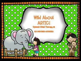 Wild About Artic! Speech Therapy Materials