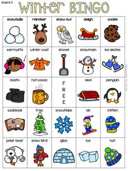 Winter BINGO Freebie By Breanna Allor Teachers Pay Teachers