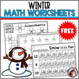 Winter Math Worksheets Free