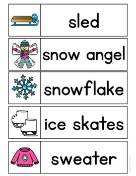 Winter Word Wall Words