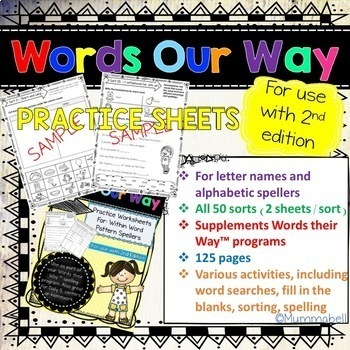 Words Our Way Within Word Pattern Spellers Practice Worksheets 2nd Edition
