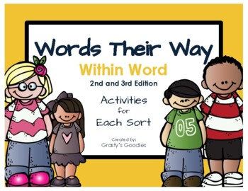 Words Their Way Within Word Pattern Spellers No Prep Activities For Each Sort