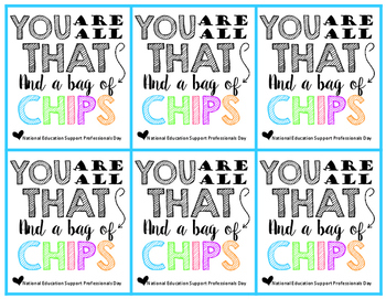 You Are All That And A Bag Of Chips Labels Freebie TpT