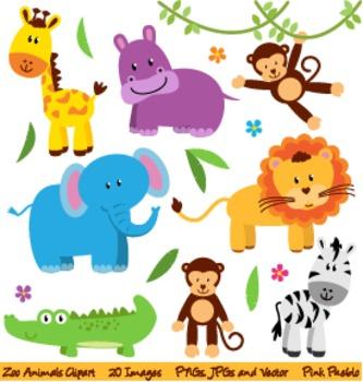 Zoo Safari And Wild Animals Clipart And Vectors By Pinkpueblo Tpt